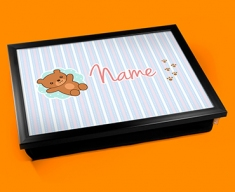 Teddy Personalised Childrens Name Cushion Lap Tray