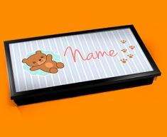 Teddy Personalised Childrens Name Cushioned Laptop Lap Tray