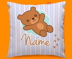 Teddy Personalised Childrens Name Sofa Cushion