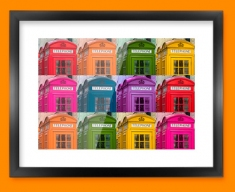 Telephone Box Collage Framed Print