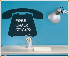 Telephone Chalkboard Wall Sticker