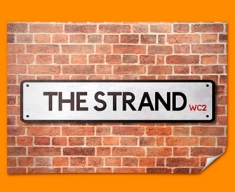 The Strand UK Street Sign Poster