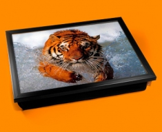 Tiger In Water Cushion Lap Tray
