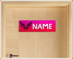 Tribal Butterfly Personalised Name Children's Bedroom Door Sign