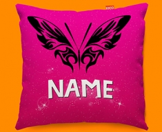 Tribal Butterfly Personalised Childrens Name Sofa Cushion