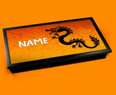 Tribal Dragon Personalised Childrens Name Cushioned Laptop Lap Tray