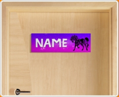 Tribal Horse Personalised Name Children's Bedroom Door Sign