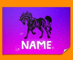 Tribal Horse Personalised Childrens Name Poster