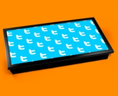Twitter Pattern Laptop Tray