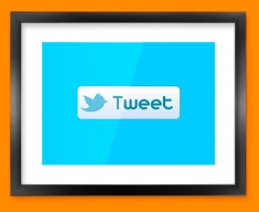 Twitter Tweet Social Networking Framed Print