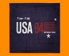 USA 94 Flag Napkins (Set of 4)