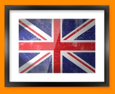 Union Jack Flag Framed Print