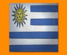 Uraguay Flag Napkins (Set of 4)