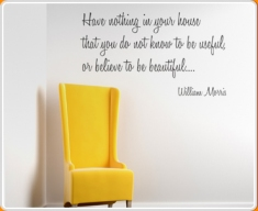 Useful Things William Morris Quote Wall Sticker
