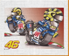 Valentino Rossi Canvas Art Print