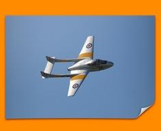Vampire de Havilland Plane Poster