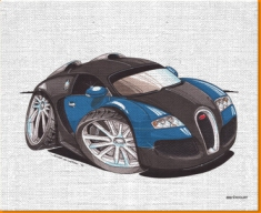 Veyron Front Canvas Art Print