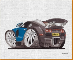 Veyron Rear Canvas Art Print
