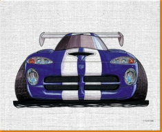 Viper Front Canvas Art Print