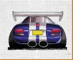 Viper Rear Canvas Art Print