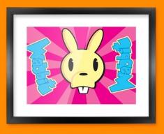 Wabbit Framed Print