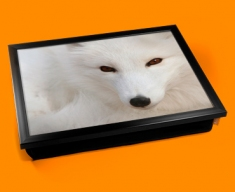 White Fox Cushion Lap Tray