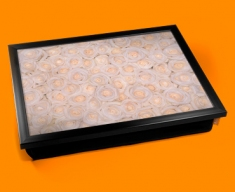White Roses Cushion Lap Tray