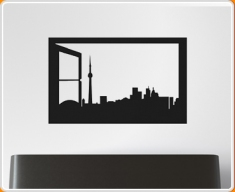 Window Silhouette Toronto Wall Sticker