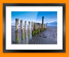 Wittering Beach Posts Framed Print