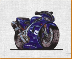 Yamaha R1 Canvas Art Print
