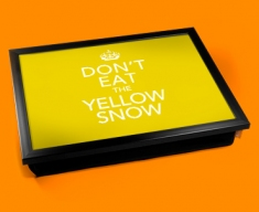 Yellow Snow Keep Calm Cushion Lap Tray