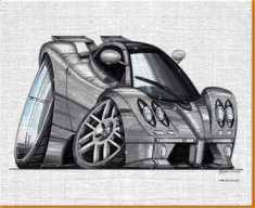 Zonda Front Canvas Art Print