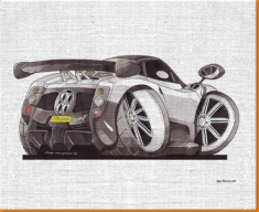 Zonda Rear Canvas Art Print