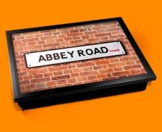 Abbey Rd Street Sign Cushion Lap Tray