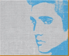 Blue Elvis Canvas Art Print