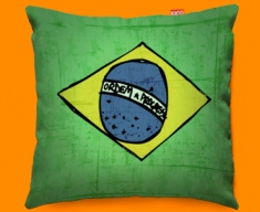 Brazil Flag Cushion 45x45cm