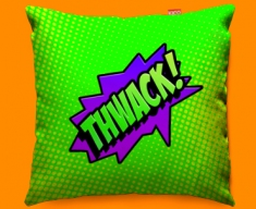 Comic THWACK Funky Sofa Cushion 45x45cm
