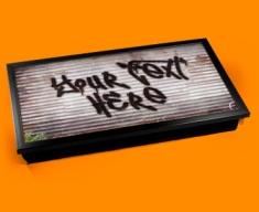 Personalised Custom Graffiti Shed Laptop Tray
