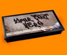 Personalised Custom Graffiti Wall Laptop Tray