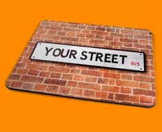 Personalised Custom UK Street Sign Placemat