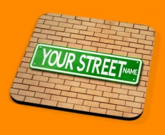 Custom US Street Sign Drinks Coaster