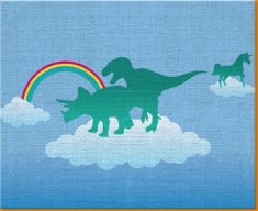 Dino Heaven Canvas Art Print