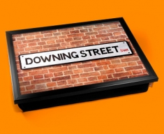 Downing Street Sign Cushion Lap Tray