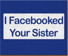 Facebook Sister Canvas Art Print