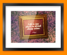 Life's Too Short Heart Warmer Framed Print