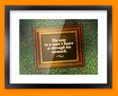 The Way to a Man's Heart Heart Warmer Framed Print
