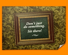 Don't Just Do Something Heart Warmer Poster