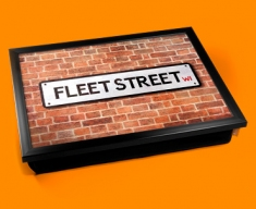 Fleet Street Sign Cushion Lap Tray