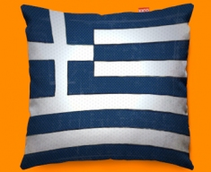 Greece Flag Cushion 45x45cm