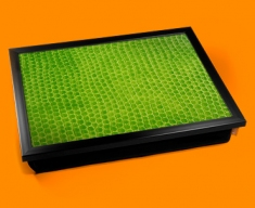 Green Snake Animal Skin Lap Tray